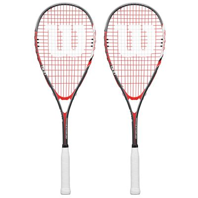Wilson Impact Pro 900 Squash Racket Double Pack