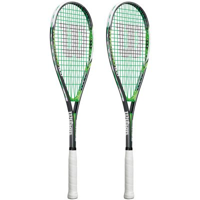 Wilson Impact Pro 900 Squash Racket Double Pack SS16-Side
