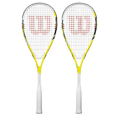 Wilson Impact Pro 900 Squash Racket Double Pack - Yellow
