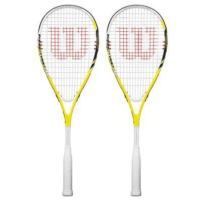 Wilson Impact Pro 900 Squash Racket Double Pack - Yellow