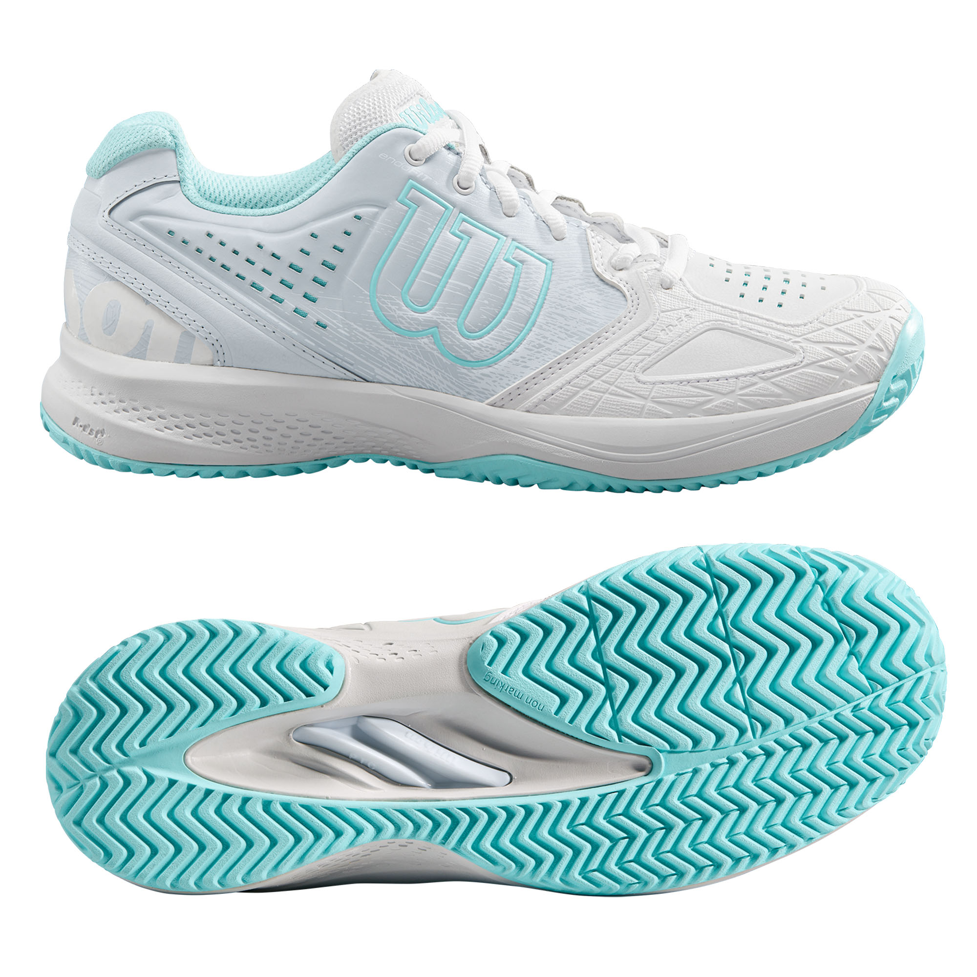 Image of Wilson Kaos Comp 2.0 Ladies Tennis Shoes - 4 UK