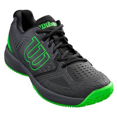 Wilson Kaos Comp 2.0 Mens Tennis Shoes - BlackGreen - Slant