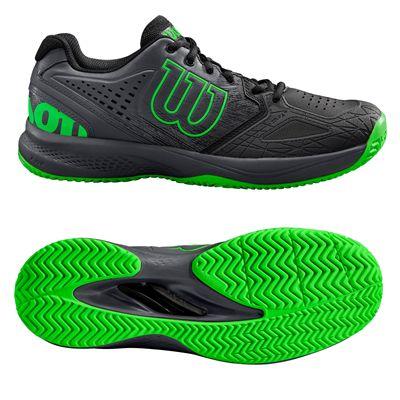 Wilson Kaos Comp 2.0 Mens Tennis Shoes - BlackGreen