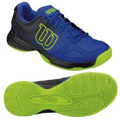 Wilson Kaos Comp Junior Tennis Shoes - Blue/Black