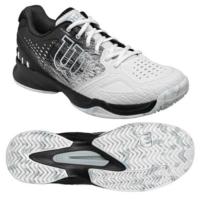 Wilson Kaos Comp Mens Tennis Shoes Black/White