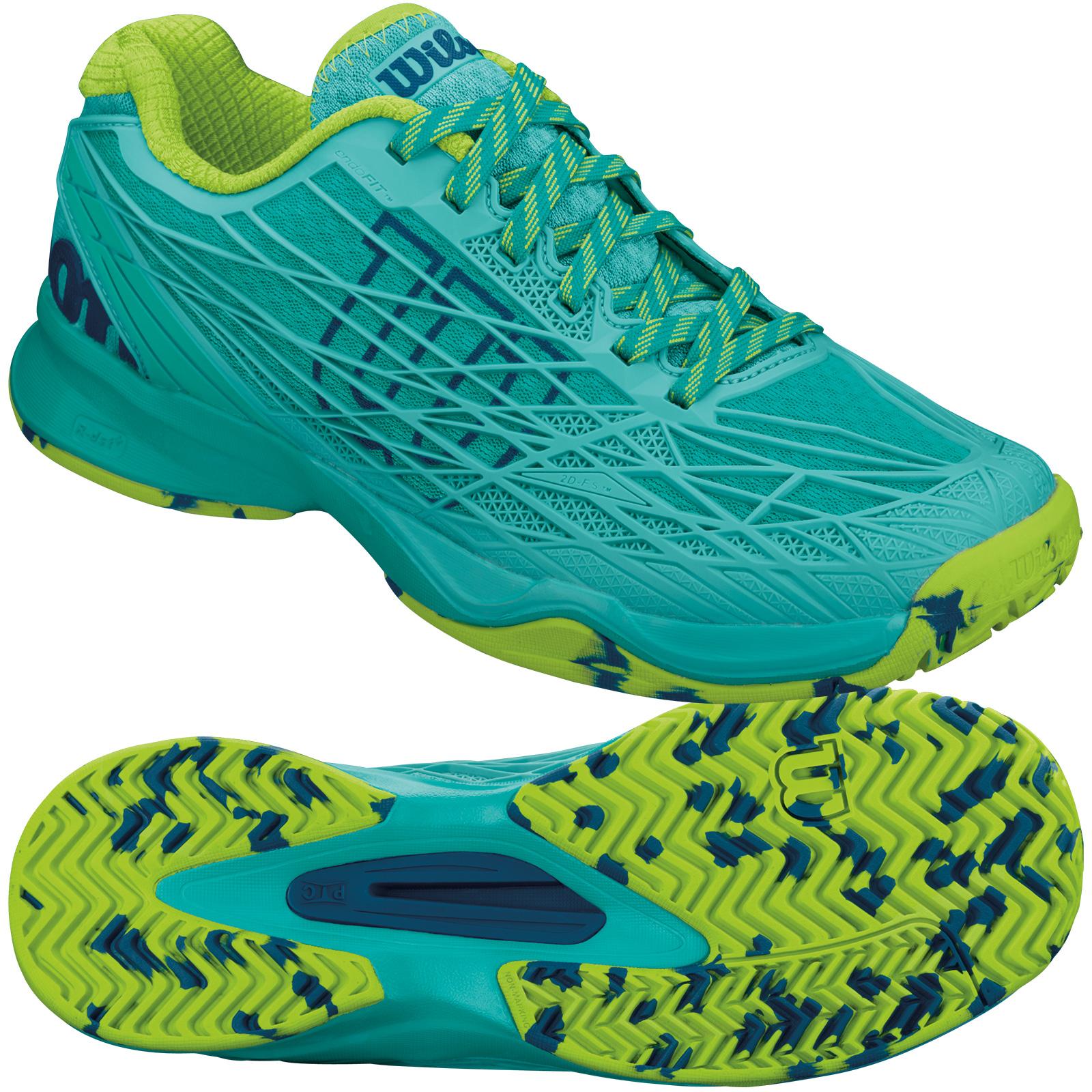 wilson kaos tennis shoes ss16 green 6 uk