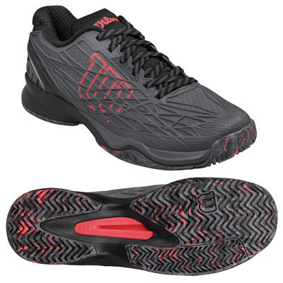 Wilson Kaos Mens Tennis Shoes - Graphite/Red