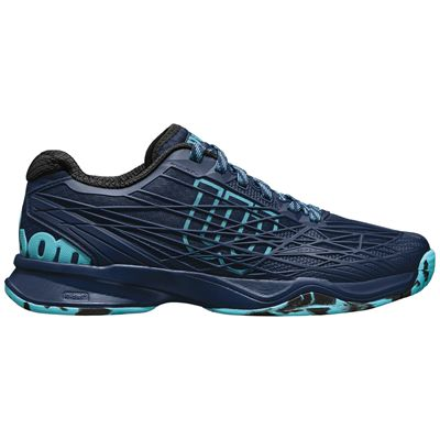 Wilson Kaos Mens Tennis Shoes-Navy-Green-Side Right