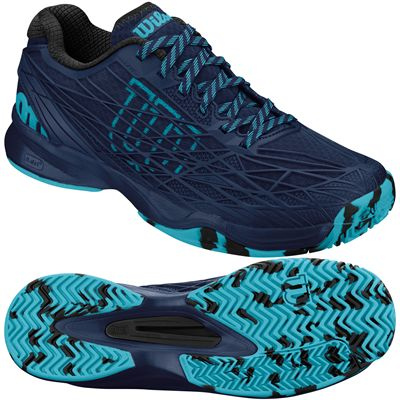 Wilson Kaos Mens Tennis Shoes-Navy-Green
