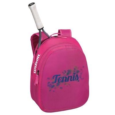 Wilson Match Junior Backpack - Pink - In Use