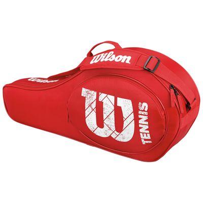 Wilson Match Triple Junior Racket Bag-Red-Back