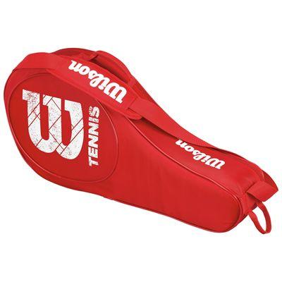 Wilson Match Triple Junior Racket Bag-Red-Front