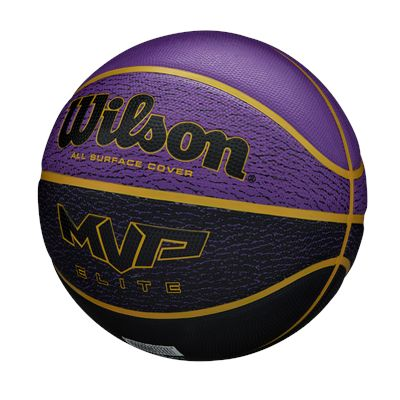 Wilson MVP Elite Basketball - PurpleBlue - side