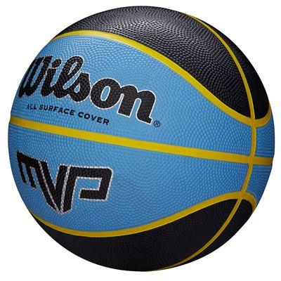 Wilson MVP Mini Basketball - Black - Angle