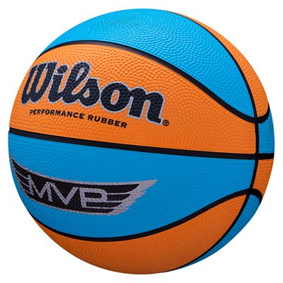 Wilson MVP Mini Basketball - Blue - Angled