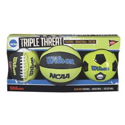 Wilson NCAA Triple Threat Ball Kit