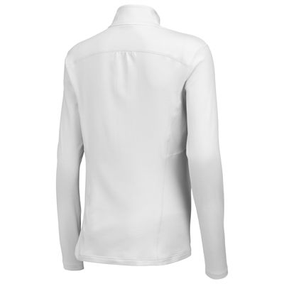 Wilson nVision Long Sleeve Ladies Zip Top-White-Back