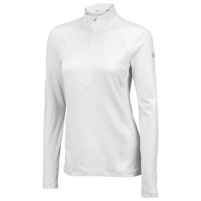 Wilson nVision Long Sleeve Ladies Zip Top-White-Front