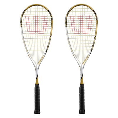 Wilson One Fifty BLX Squash Racket Double Pack
