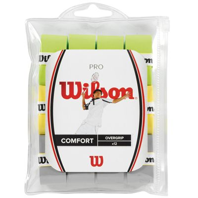 Wilson Pro Badminton Overgrip - Pack of 12 Assorted