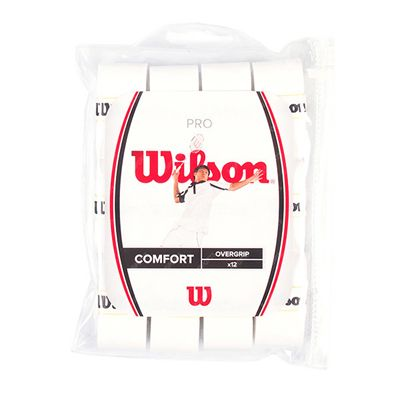 Wilson Pro Badminton Overgrip - Pack of 12 White