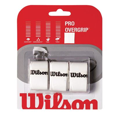 Wilson Pro Overgrip (3 grips) - White