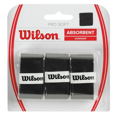 Wilson Pro Soft Overgrip - 3 Pack - Black