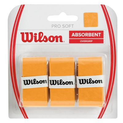 Wilson Pro Soft Overgrip - 3 Pack - Gold