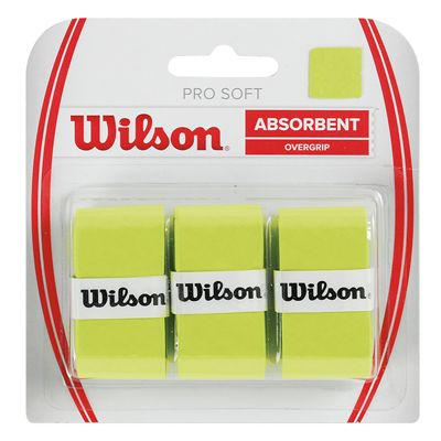 Wilson Pro Soft Overgrip - 3 Pack - Lime