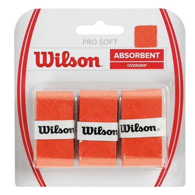 Wilson Pro Soft Overgrip - 3 Pack - Orange
