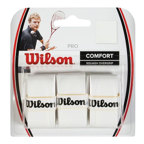 Wilson Pro Squash Overgrip Pack of 3
