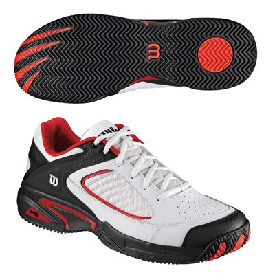 Wilson Pro Staff Endure II Mens Tennis Shoes Red - Red/White