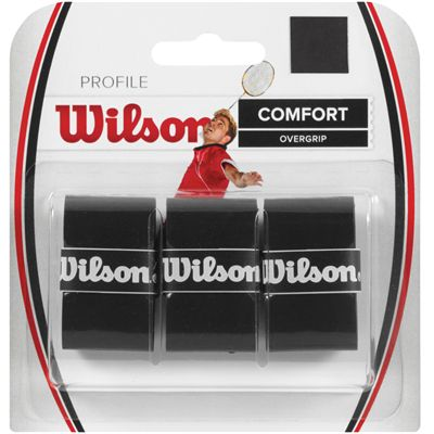Wilson Profile Badminton Overgrip-Pack of 3-Black