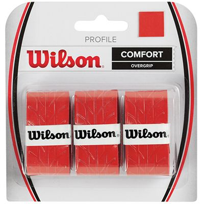 Wilson Profile Overgrip - 3 Pack - red colour