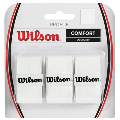 Wilson Profile Overgrip - 3 Pack - white colour