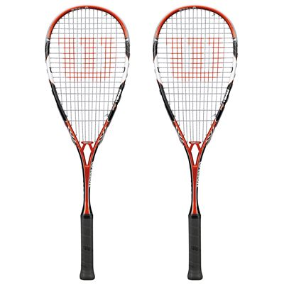 Wilson PY Team Squash Racket Double Pack - Front View