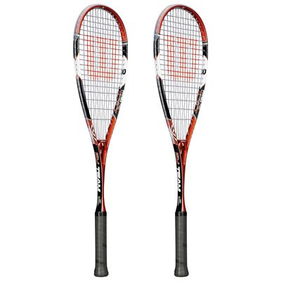 Wilson PY Team Squash Racket Double Pack - Side View