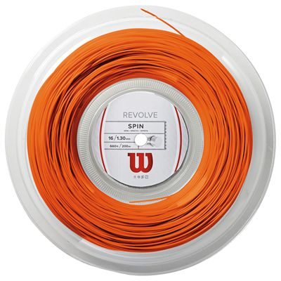Wilson Revolve Tennis String 200m Reel - 16 Orange