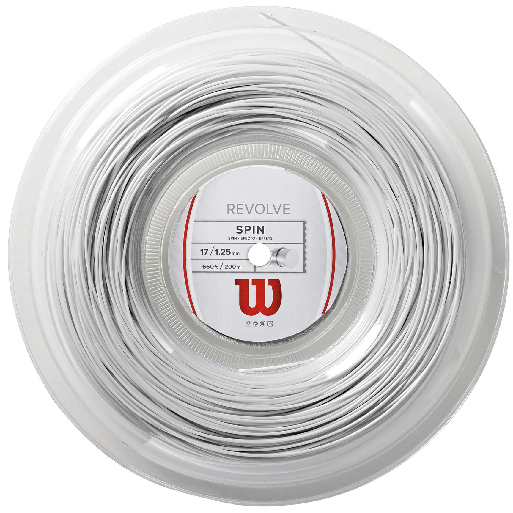 Image of Wilson Revolve Tennis String 200m Reel - White, 1.25mm