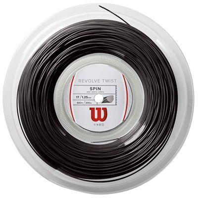Wilson Revolve Twist Tennis String - 200m Reel - Grey - 1.25