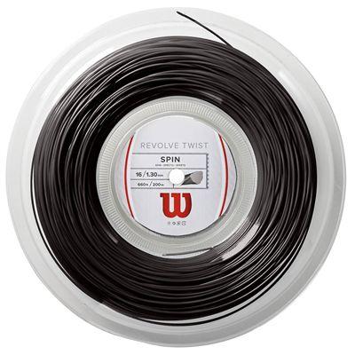 Wilson Revolve Twist Tennis String - 200m Reel - Grey