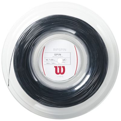 Wilson Rip Spin 16 Tennis String 200m Reel Black