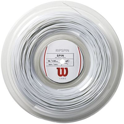 Wilson Rip Spin 16 Tennis String 200m Reel White