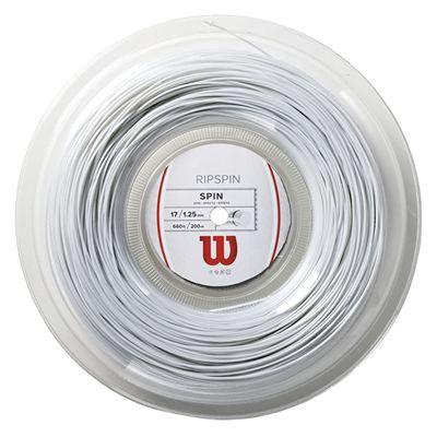 Wilson Rip Spin 17 Tennis String 200 m Reel white