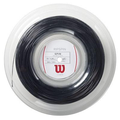 Wilson Rip Spin 17 Tennis String 200m Reel black