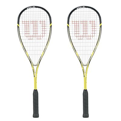 Wilson Ripper 133 BLX Squash Racket Double Pack