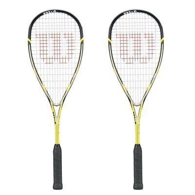 Wilson Ripper 133 BLX Squash Racket Double Pack