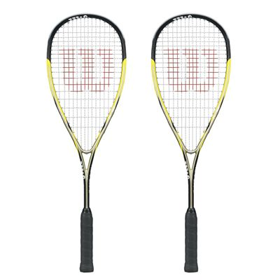 Wilson Ripper 135 BLX Squash Racket Double Pack