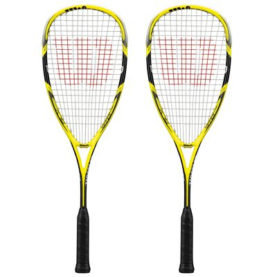 Wilson Ripper 140 BLX Squash Racket Double Pack SS15 - Front View