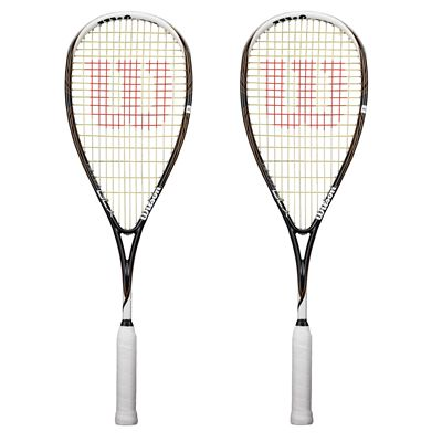 Wilson Ripper BLX Squash Racket Double Pack